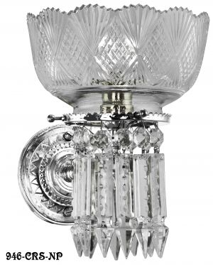 Victorian-Sconce---Lead-Crystal-Prism-Single-Sconce-By-Oxley-Giddings-(946-CRS-RS)