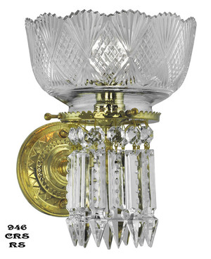Victorian Sconce - Lead Crystal Prism Single Sconce By Oxley Giddings (946-CRS-RS)