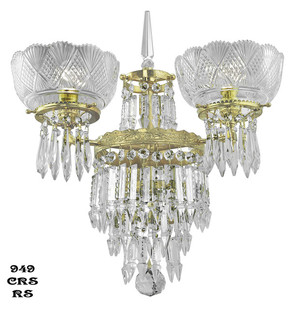 Victorian Sconce - Crystal Prism Deluxe Double Sconce By Oxley Giddings (949-CRS-RS)