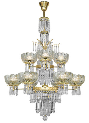 Crystal Prism 10 Light Oxley Gidding Chandelier (951-10L-CH)