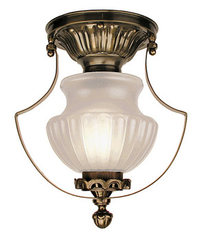 Victorian Low Ceiling Light With Frosted Shade (96-MP1-CCL)