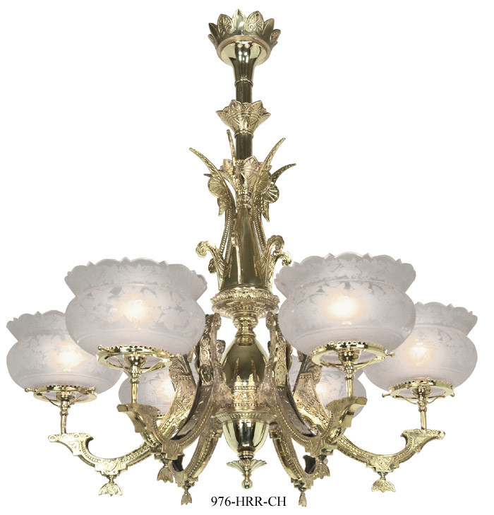 Vintage Hardware Lighting Victorian Chandelier Neo Grecian 6 – Victorian Style Chandeliers