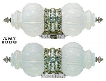 Nice Nickel Plated Double Wall Light for Over a Bathroom Sink (ANT-1000)