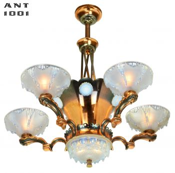 French Art Deco Petitot Chandelier (ANT-1001)