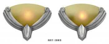 American Art Deco Pair of STREAMLINE Sconces (ANT-1003)