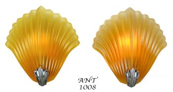 TWO prs of French Shell Motif Sconces. (sold each pair) (ANT-1008)