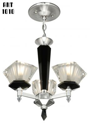 French Art Deco or Mid Century Modern Chandelier (ANT-1010)