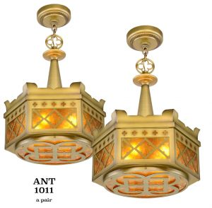 Pair of Quality Gothic Chandeliers  (ANT-1011)