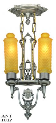 Art Deco 2 light Pendant by Riddle (ANT-1017)