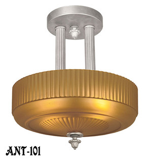 Glass Shade Ceiling Light Circa 1920 (ANT-101)