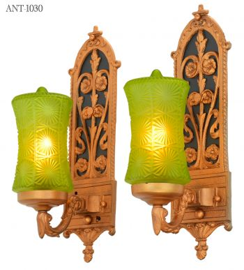 Edwardian Pair of LOVELY Single Arm Sconces (ANT-1030)