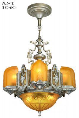 Beautiful Top-of-the-Line Art Deco Chandelier (ANT-1040)