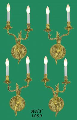 French Louis Style, Set of 4, Two Branch Candelabrum (ANT-1059-1)