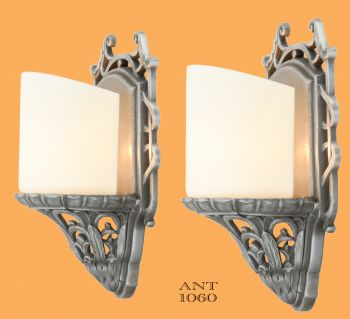 Pair of Lightolier Art Deco Slip Shade Sconces (ANT-1060)