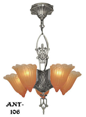 Antique Original Lincoln 5 Light Chandelier (ANT-106)