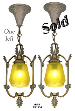 Pair of Matching Art Deco Hall Lights (sold each) (ANT-1074)