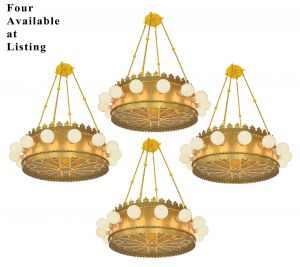 1920's Old Gold Finished Theater Chandeliers (ANT-1126)