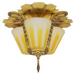 Wonderful 3-Shade Williamson (Signed: Beardslee) Close Ceiling Light (ANT-1130)
