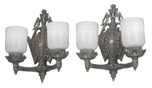 Striking Pair of Double-Armed Art Deco Wall Sconces..Circa 1920 (ANT-1146)