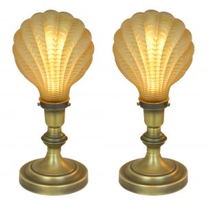 "Very Unusual Art Deco ""Odeon"" Style British Motif Theatre Table Lights (ANT-1151)"