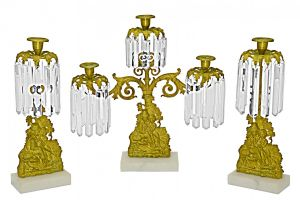 Set of Mid-Victorian Girandole Candelabra Marriage Set (ANT-1156)