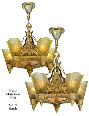 Art Deco Top-of-the-Line Chandelier (A Near Matched Pair-Sold Each) (ANT-1181)