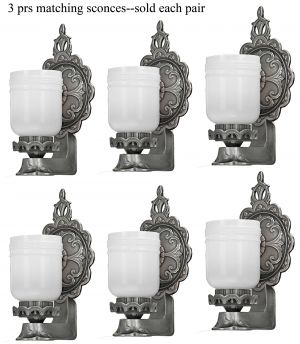 Amazing Set of 6 (3 Pair) Wonderful Matching 1920s Edwardian Sconces (ANT-1183)