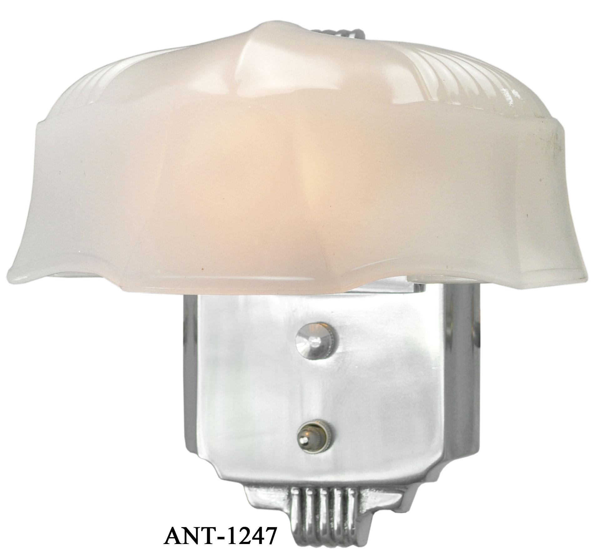 Vintage Hardware Lighting Art Deco Streamline Wall Sconce Light Fixture Ant 1247
