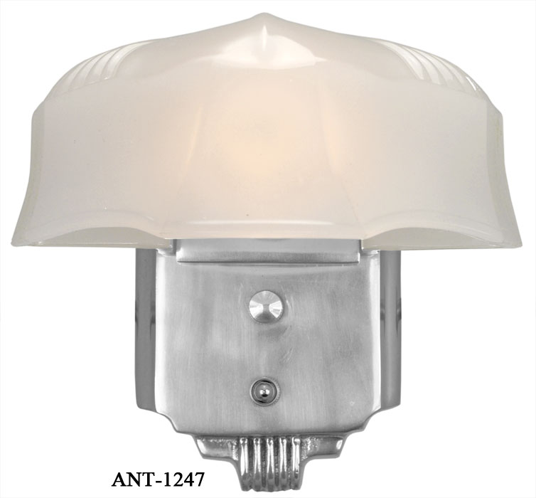 Alternate View 0 1 2 3 Description Ant 1247 Art Deco Streamline Wall Sconce