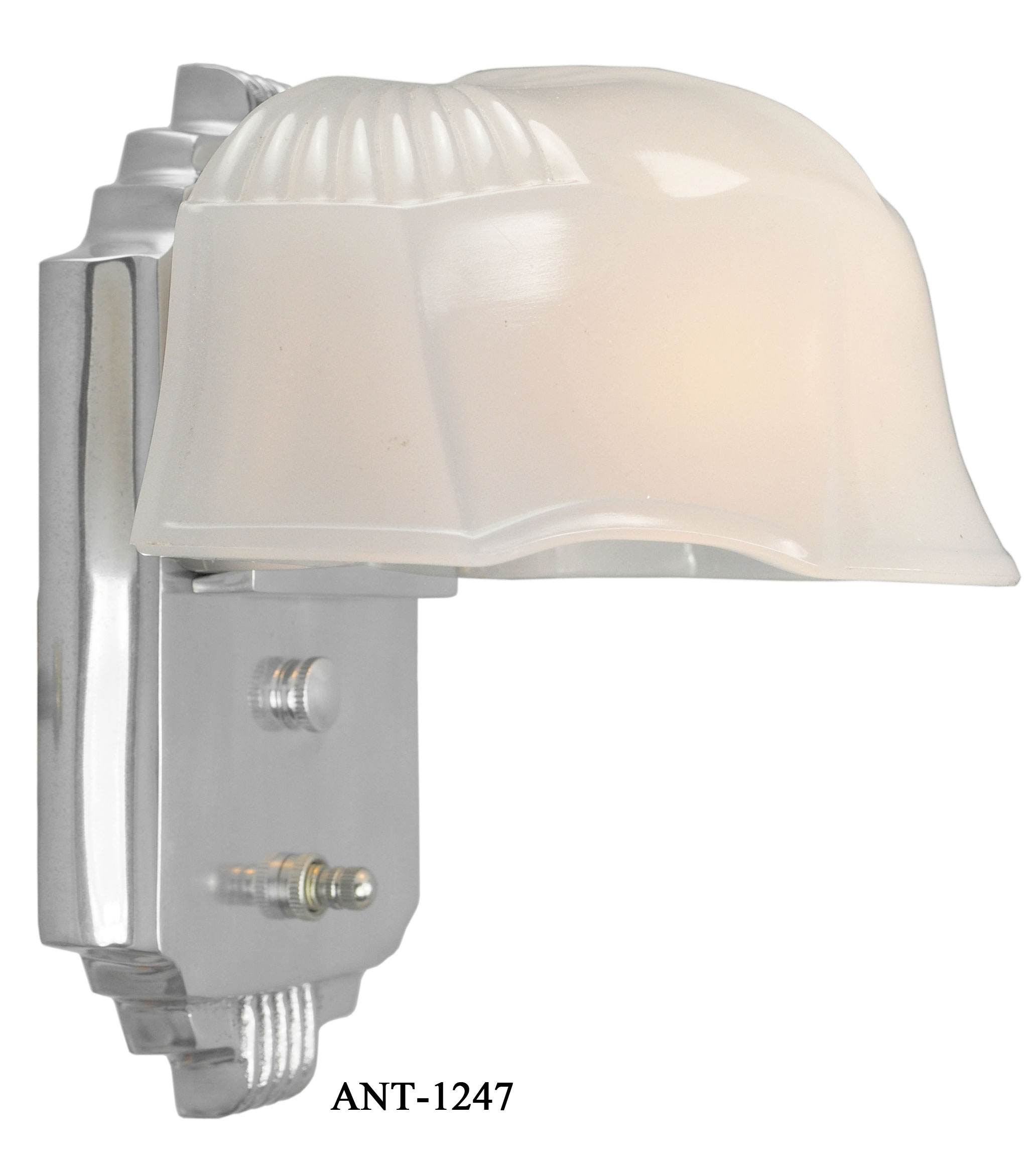Vintage Hardware U0026 Lighting   Art Deco Streamline Wall Sconce Light Fixture  (ANT 1247)