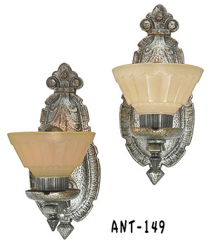 Pair Of Antique Electric Wall Sconces C1910-1920 (ANT-149)