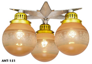 Antique-Arts-and-Crafts-Star-Close-Ceiling-Light-(ANT-151)
