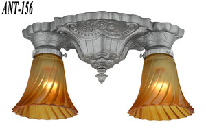 Pair of Restored Antique Art Deco Close Ceiling Lights (ANT-156)