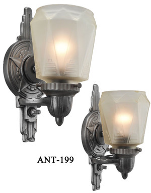 C1930 Outstanding Pair of Art Deco Sconces (ANT-199)