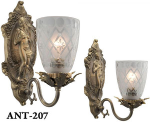 Antique Victorian Venus Sconces (ANT-207)