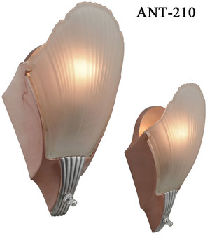 Pair of Art Deco Streamline Sconces circa1935 (ANT-210)