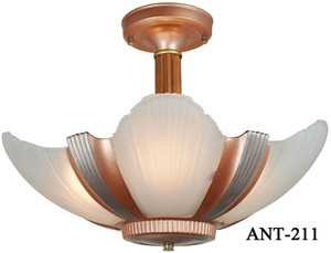 Antique Art Deco Streamline Chandelier c1935 (ANT-211)