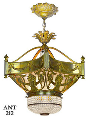 Antique French Turn-of-the-Century Chandelier (ANT-212)