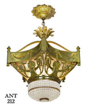 Antique-French-Turn-of-the-Century-Chandelier-(ANT-212)