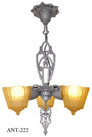 Antique-Art-Deco-Lincoln-3-Light-Pendant-Chandelier-(ANT-222)