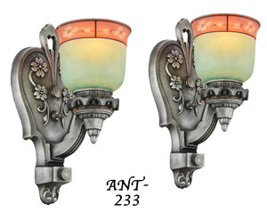 Pair of Antique Edwardian Sconce Lights (ANT-233)