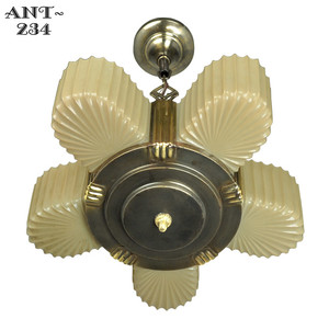 Antique-Art-Deco-Markel-5-Light-Chandelier-(ANT-234)