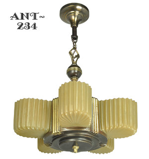 Antique Art Deco Markel 5 Light Chandelier (ANT-234)