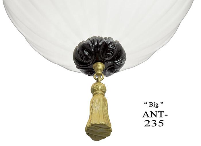Vintage Hardware Amp Lighting Large Antique Knights Helmet Pendant Black And Gold Ceiling Light
