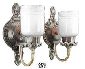 Pair of Antique Edwardian Sconces (ANT-237)
