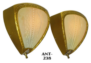 Pair of Art Deco Wall Sconces c1930 (ANT-238)