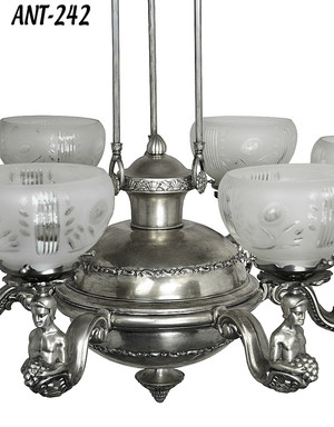 Restored-Antique-Silverized-Chandelier-c1900-(ANT-242)
