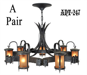 Pair-of-Restored-Antique-Chandeliers-C1920-(ANT-247)