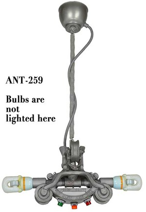 Steampunk Pendant Light Chandelier with Space Age Induction Bulbs (ANT-259)