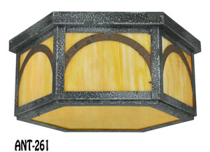 Craftsman Close Ceiling Light c1920-40 (ANT-261)